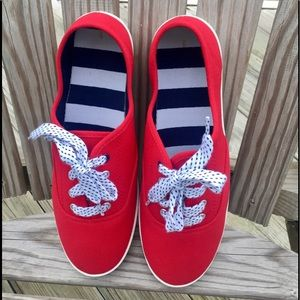Shoes - Never worn cute red tennis shoes size 9